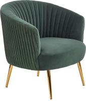 Кресло мягкое Halmar Crown (темно-зеленый/золото) -