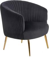 Кресло мягкое Halmar Crown (черный/золото) -
