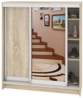 Шкаф для обуви Кортекс мебель Сенатор ШК41 Классика ДСП с зеркалом (дуб сонома) -