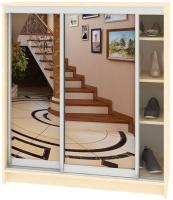 Шкаф для обуви Кортекс мебель Сенатор ШК41 Классика зеркало (венге светлый) -