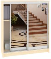Шкаф для обуви Кортекс мебель Сенатор ШК42 Классика зеркало (венге светлый) -