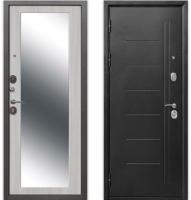 Входная дверь Гарда Троя серебро Maxi Белый ясень (96х205, левая) -