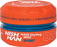 Воск для укладки волос NishMan Sport 02 (150мл) -