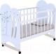 Детская кроватка VDK Wind Tree колесо-качалка (белый) -