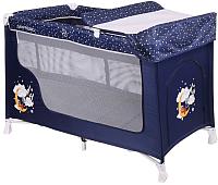 Кровать-манеж Lorelli San Remo 2 Blue Good Night Bear (10080071804) -
