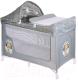 Кровать-манеж Lorelli San Remo 2 Plus Grey Cute Kitten (10080081805) -