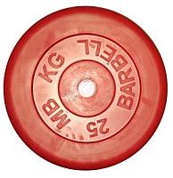 Диск для штанги MB Barbell d26мм 25кг (красный) -