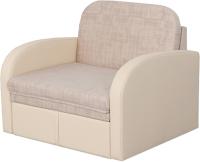 Кресло-кровать Мебельград Стандарт М08 (джаз бежевый/домус бежевый) -