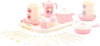 Набор игрушечной посуды Полесье Хозяюшка с подносом  / 80479 (на 4 персоны) -