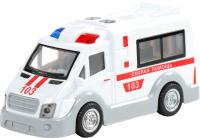 Автомобиль игрушечный Полесье Скорая помощь / 79657 (инерционный) -