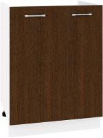 Шкаф под мойку Кортекс-мебель Корнелия Лира НШ60м (венге) -