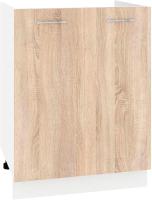 Шкаф под мойку Кортекс-мебель Корнелия Лира НШ60м (дуб сонома) -