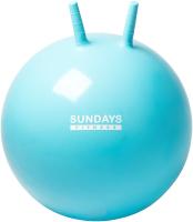 Фитбол с рожками Sundays Fitness IR97401A-55 (голубой) -