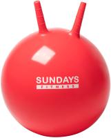 Фитбол с рожками Sundays Fitness IR97401A-45 (красный) -