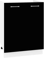 Шкаф под мойку Кортекс-мебель Корнелия Лира НШ60м (черный) -