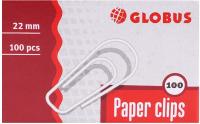 Скрепки Globus С22-100 (100шт) -