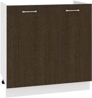Шкаф под мойку Кортекс-мебель Корнелия Лира НШ80м (венге) -