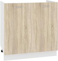 Шкаф под мойку Кортекс-мебель Корнелия Лира НШ80м (дуб сонома) -