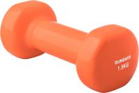 Гантель Sundays Fitness IR92005 (1.5кг, оранжевый) -