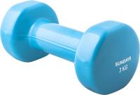 Гантель Sundays Fitness IR92005 (3кг, голубой) -
