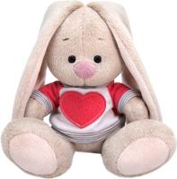 Мягкая игрушка Budi Basa Зайка Ми в белой толстовке с сердцем / SidX-360 -