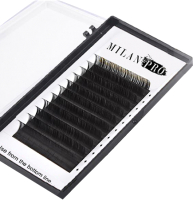 Ресницы для наращивания Milan Pro 1042 MP 0.10/С Микс (16 линий, черный) -