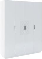 Шкаф Rinner Тиффани М21 четырехстворчатый (белый текстурный) -