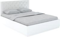 Двуспальная кровать Rinner Тиффани М25 с ПМ 160x200 (белый текстурный) -
