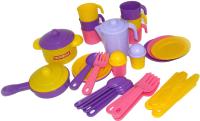 Набор игрушечной посуды Полесье Настенька / 59954 (на 6 персон) -