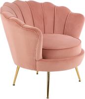 Кресло мягкое Halmar Amorinito (светло-розовый/золото) -