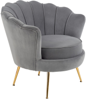 Кресло мягкое Halmar Amorinito (серый/золото) -