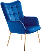 Кресло мягкое Halmar Castel 2 (темно-синий/золото) -