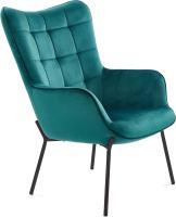 Кресло мягкое Halmar Castel (темно-зеленый/черный) -