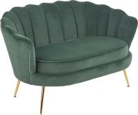 Диван Halmar Amorinito XL (темно-зеленый/золото) -