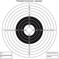 Мишень No Brand 55578 (100шт, черный/белый) -