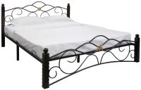 Полуторная кровать Сакура Гарда-3 140 (черный) -