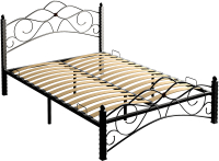 Двуспальная кровать Сакура Гарда-3 160 (черный) -