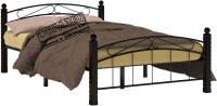Полуторная кровать Сакура Гарда-15 140 (черный) -