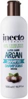 Шампунь для волос Inecto Natur с аргановым маслом для блеска -