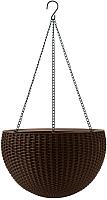 Кашпо Keter Rattan Style / 229544 (коричневый) -