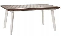 Стол садовый Keter Harmony Extendable / 230758 (белый/капучино) -