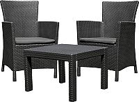 Комплект садовой мебели Keter Rosario Balcony Set / 216777 (графитовый) -