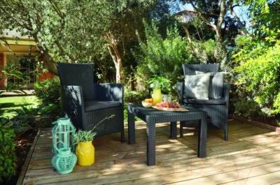 Комплект садовой мебели Keter Rosario Balcony Set / 216777 (графитовый)
