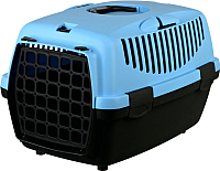 Переноска для животных Trixie Traveller Capri I 39812 (темно-серый/нежно-голубой) -