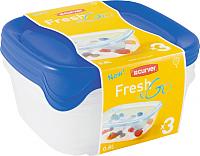 Набор контейнеров Curver Fresh&Go 08559-139-00 / 182217 (синий/прозрачный) -