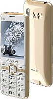 Мобильный телефон Maxvi P15 (белый/золото) -