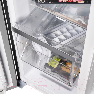 Холодильник с морозильником Maunfeld MFF 177NFSB