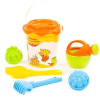 Набор игрушек для песочницы Полесье Оранжевая корова №5 / 83197 -