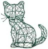 Каркасное топиари Грифонсервис Кот сидя ТОП20-1 (зеленый) -
