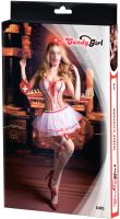 Костюм эротический Candy Girl Lola One Size / 841040 (белый/красный) -